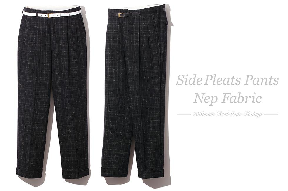 706union Side Pleats Pants