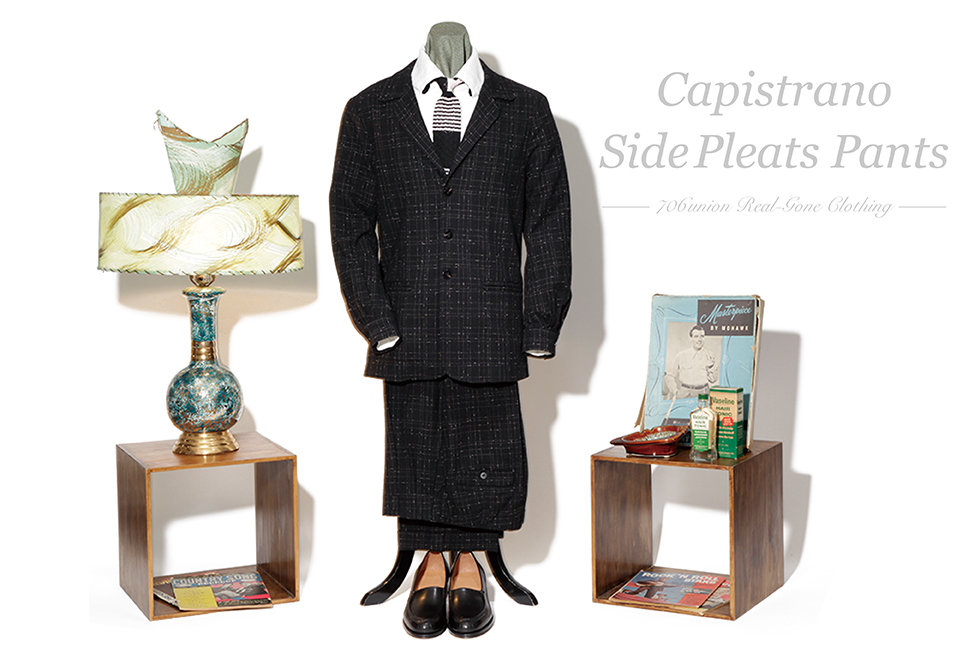 706union Capistrano & Side Pleats Pants